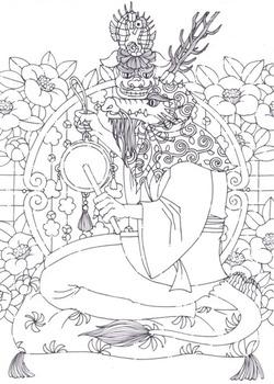 龍とタツノオトシゴ・獅子舞・椿