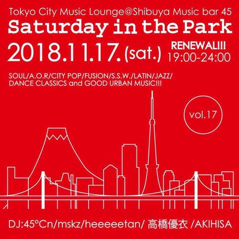 Sat Nov 17 2018 [DJ] Saturday in the Park Vol.17