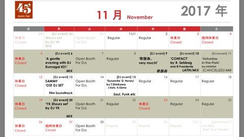 Schedule: November