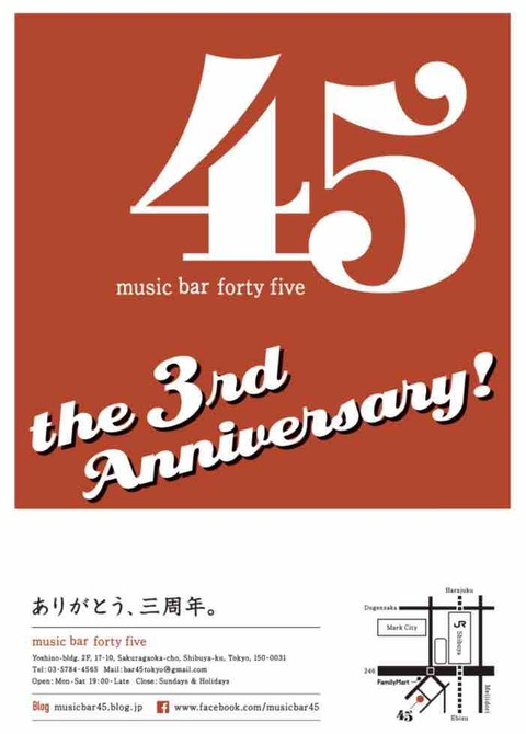 45 the 3rd Anniversary weeks!