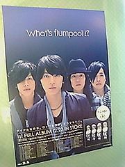 「What's flumpool!?」販促用パネル