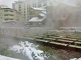 草津温泉 湯畑('10.1.1撮影)