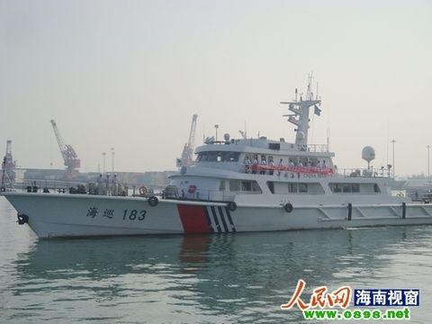 中国海事局の巡航船。