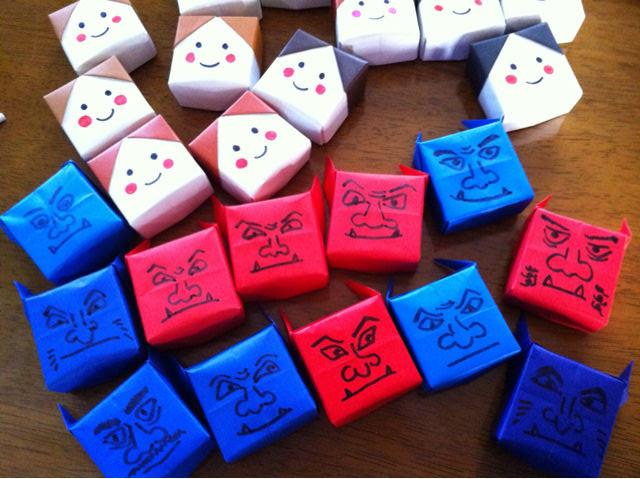 折り 折り紙 節分 折り紙 折り方 : maia-ehon.doorblog.jp