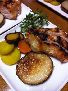 鶏のソテーと大根ステーキ