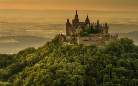 Germany-castle-trees-mountain-top_3840x2160