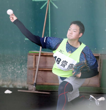 阪神4位斎藤ブルペン「単身赴任」のパパは順調です