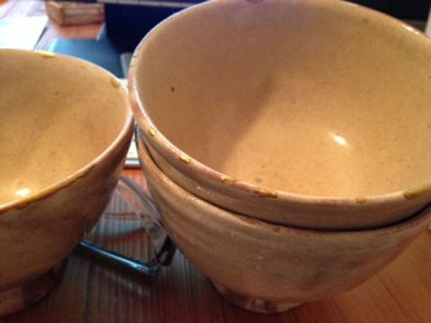 粉引き茶碗
