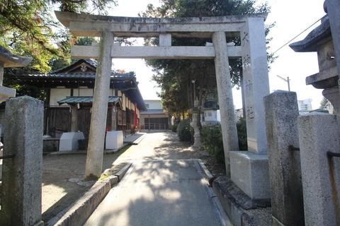 栗殿大神神社の鳥居