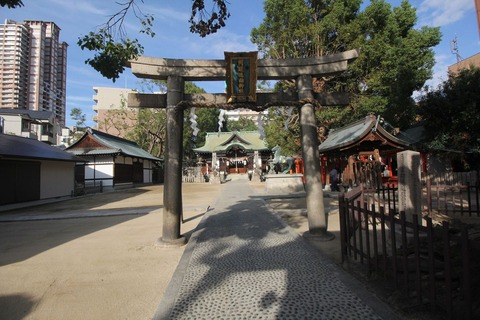 阿遅速雄神社の鳥居