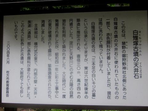 白雉塚古墳の天井石