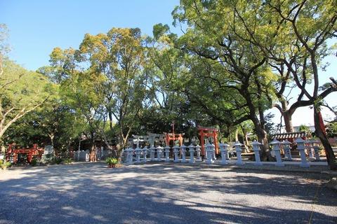 信太森葛葉稲荷神社の社叢