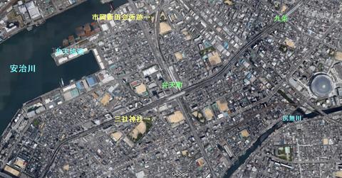 港住吉神社の参道②三社神社と市岡新田(大阪市・港区・磯路)
