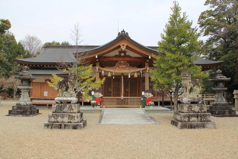 多坐弥志理都比古神社の拝殿(おお・みしりつ)