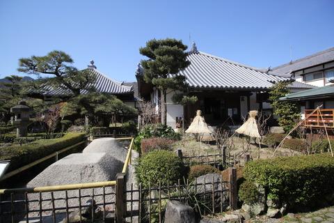 右:常行堂 (阿弥陀堂)左:弥勒堂 (旧金堂跡)