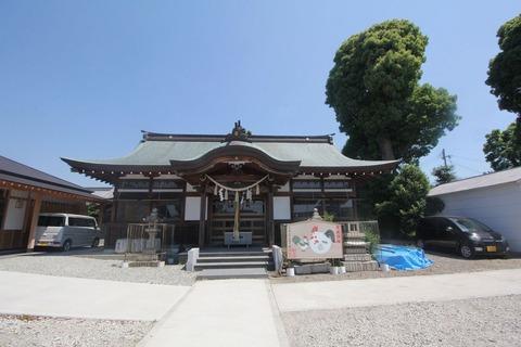 射矢止神社の拝殿
