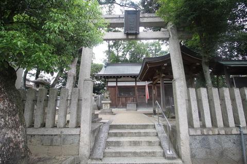 戒重春日神社の鳥居