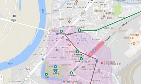 納所交差点(6線)マイマップ