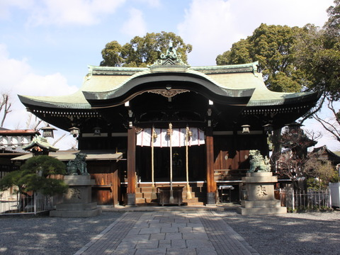 生根神社1拝殿