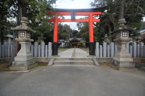 片岡神社の鳥居