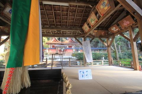登弥神社の拝殿内部