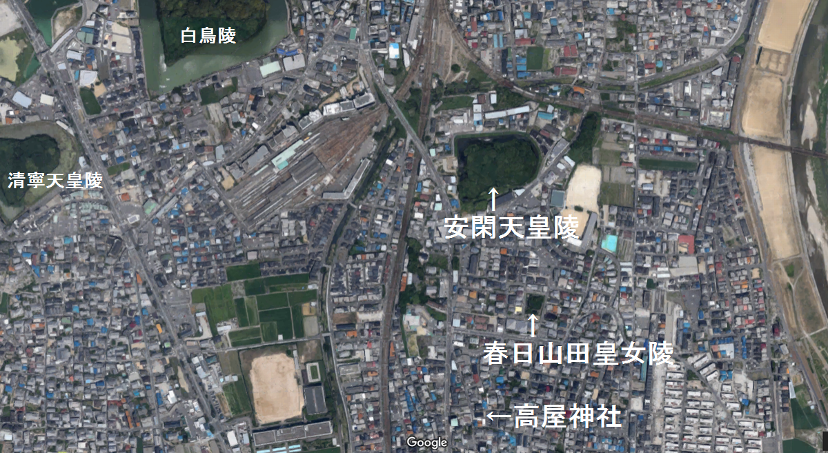 誉田八幡宮の参道⑭安閑天皇陵(...