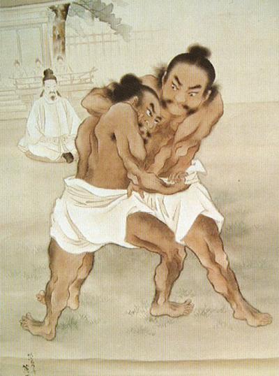 展覧相撲(野見vs當麻)