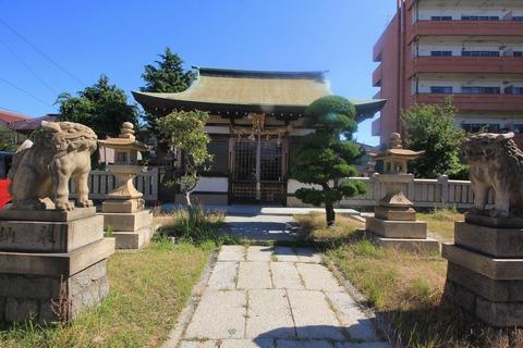穂蓼八幡神社の拝殿