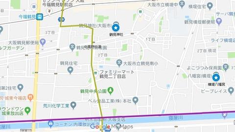 阿遅速雄神社の参道①鶴見神社(大阪市・鶴見区・鶴見)