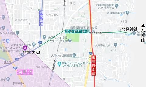 北条神社参道マイマップ