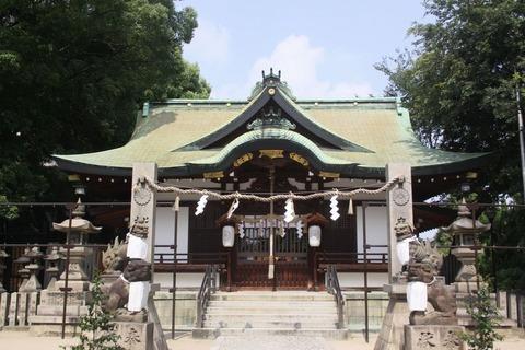 阿遅速雄神社の拝殿