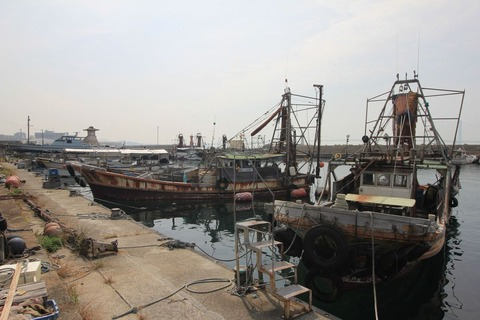明石港の漁船
