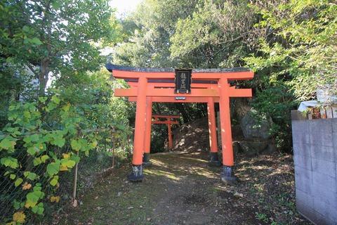 乙姫神社の赤鳥居