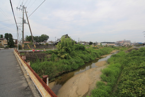 寺川(河合で栗原川と合流)