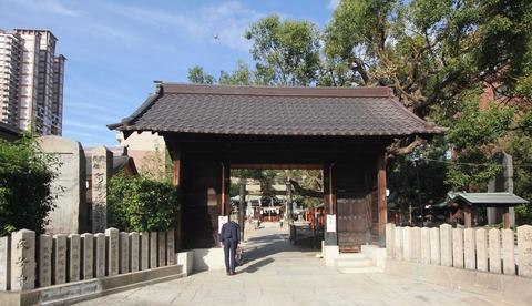 阿遅速雄神社の神門