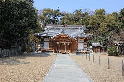 吉志部神社の拝殿