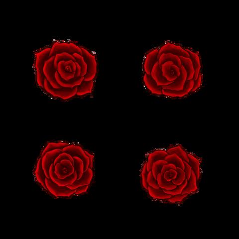 薔薇っぽい花の素材 エリーさんの筆意日記