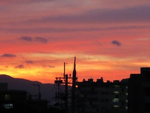 刀根山中環ビルからの夕景 (3)