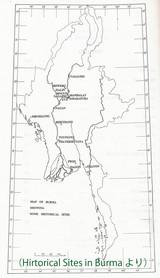 ビルマ遺跡地図