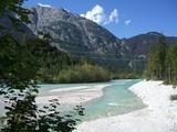 Beautiful river at the border