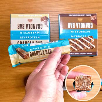 マイプロテイン グラノーラバー - ミルクティーホワイトチョコレート