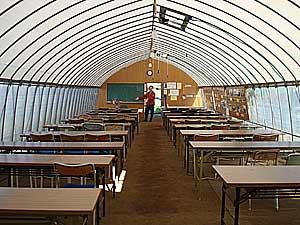 ハウスの中の教室