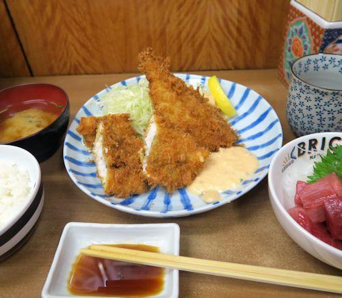 鯵鱧フライ定食5