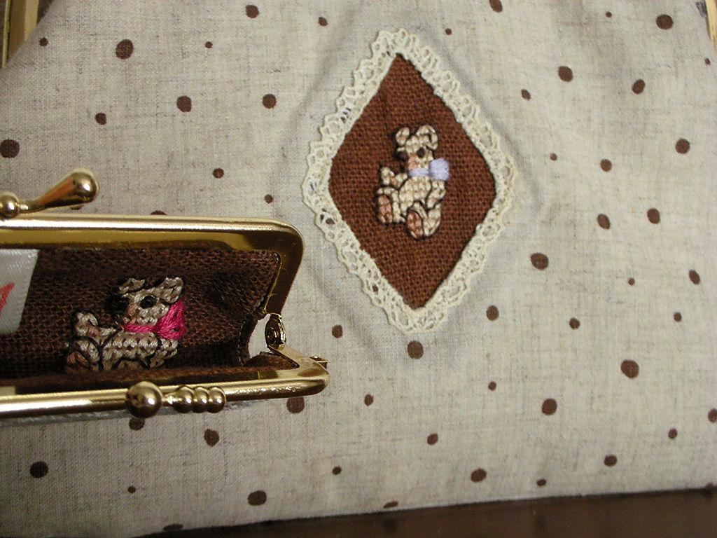 テディの刺繍