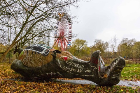 Abandoned Berlin Spreepark Amusement Fun Park-9987