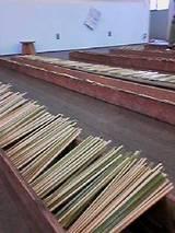 青竹を削る