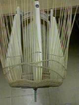 櫛目編み途中