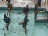 水上ステージの解体作業7
