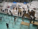 水上ステージの解体作業5