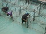 水上ステージの解体作業8